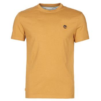 Textiel Heren T-shirts korte mouwen Timberland SS DUNSTAN RIVER POCKET TEE SLIM Beige