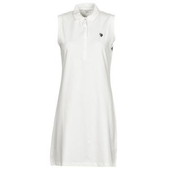 Textiel Dames Korte jurken U.S Polo Assn. AMY DRESS POLO SLEEVELESS Wit