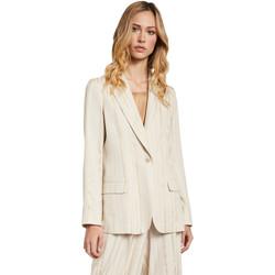 Textiel Dames Jasjes / Blazers Gaudi 011FD35011 Beige