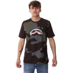 Textiel Heren T-shirts korte mouwen Sprayground SP01820BRO Bruin