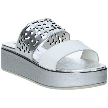 Schoenen Dames Leren slippers Susimoda 183325-02 Zilver