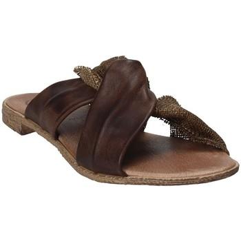 Schoenen Dames Leren slippers 18+ 6113 Bruin