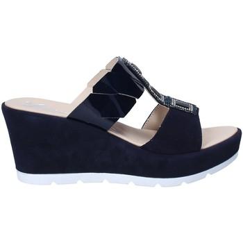 Schoenen Dames Leren slippers Susimoda 163797 Blauw
