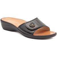 Schoenen Dames Leren slippers Susimoda 1651-01 Zwart