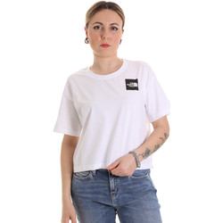 Textiel Dames T-shirts korte mouwen The North Face NF0A4SY9FN41 Wit