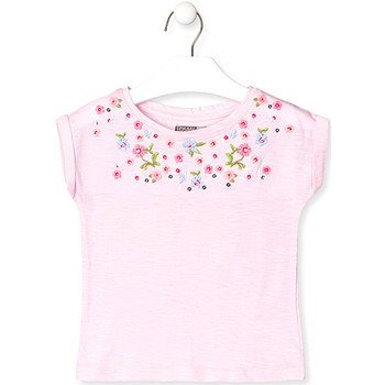 Textiel Kinderen T-shirts korte mouwen Losan 016-1003AL Roze