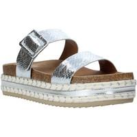 Schoenen Dames Leren slippers Gold&gold A20 GJ340 Argent