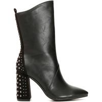 Schoenen Dames Hoge laarzen Café Noir MA944 Zwart