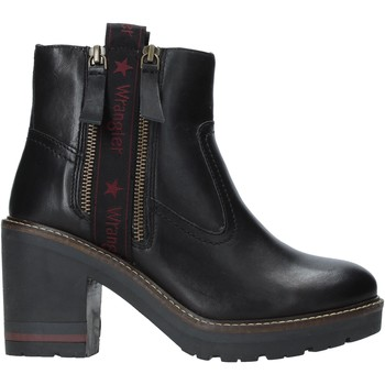 Schoenen Dames Enkellaarzen Wrangler WL92602A Zwart