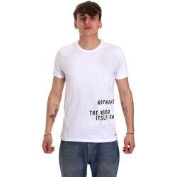 Textiel Heren T-shirts korte mouwen Gaudi 011BU64071 Wit