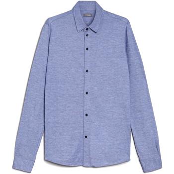 Textiel Heren Overhemden lange mouwen Nero Giardini E072300U Bleu