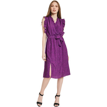 Textiel Dames Lange jurken Gaudi 011BD15004 Paars