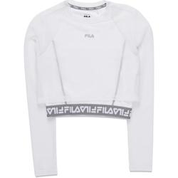 Textiel Dames T-shirts met lange mouwen Fila 687720 Wit