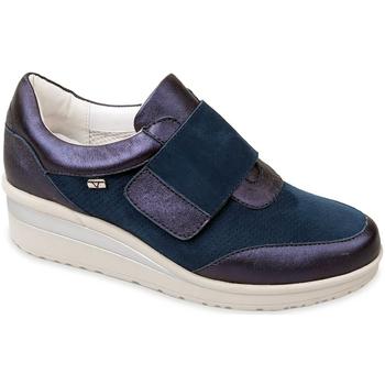 Schoenen Dames Instappers Valleverde V20370 Blauw