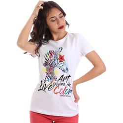 Textiel Dames T-shirts korte mouwen Gaudi 011BD64003 Wit