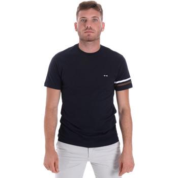 Textiel Heren T-shirts korte mouwen Les Copains 9U9014 Blauw