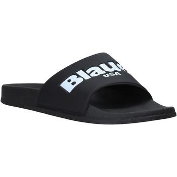 Schoenen Heren Slippers Blauer S0BAY02/PUC Zwart