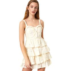 Textiel Dames Korte jurken Liu Jo FA0312 T4190 Blanc