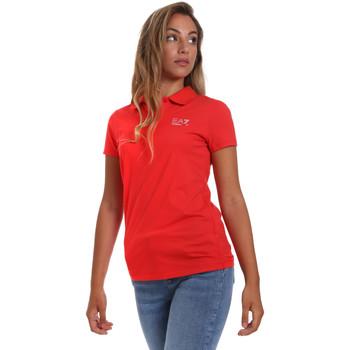 Textiel Dames Polo's korte mouwen Ea7 Emporio Armani 3HTF57 TJ29Z Rood