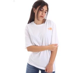 Textiel Dames T-shirts korte mouwen The North Face NF0A4M5QP9V1 Blanc