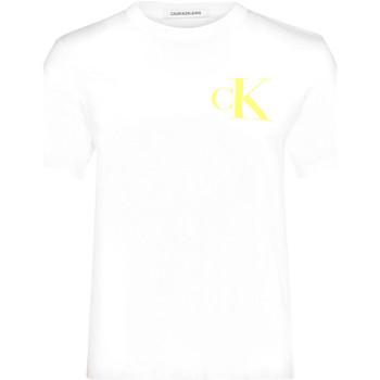 Textiel Dames T-shirts korte mouwen Calvin Klein Jeans J20J213562 Wit