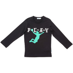 Textiel Kinderen T-shirts met lange mouwen Melby 70C5524 Zwart