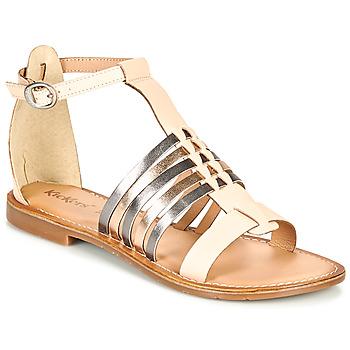 Schoenen Dames Sandalen / Open schoenen Kickers ETIKET Roze / Métal / Zilver