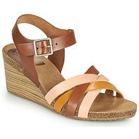 Schoenen Dames Sandalen / Open schoenen Kickers SOLYNIA Roze / Brown / Geel