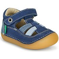 Schoenen Jongens Sandalen / Open schoenen Kickers SUSHY Blauw