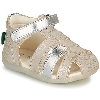 Schoenen Meisjes Sandalen / Open schoenen Kickers BIGFLO-2 Zilver