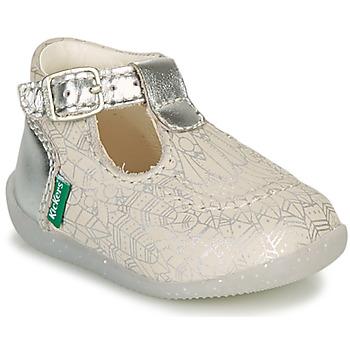 Schoenen Meisjes Ballerina's Kickers BONBEK-2 Zilver
