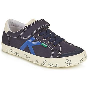 Schoenen Jongens Lage sneakers Kickers GODY Marine