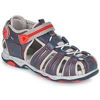 Schoenen Jongens Sandalen / Open schoenen Kickers KAWA Marine / Rood