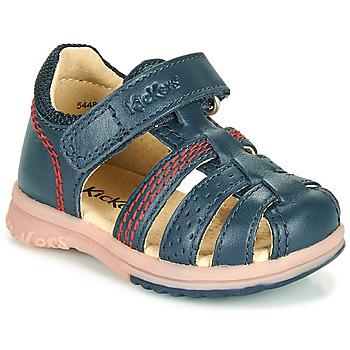 Schoenen Jongens Sandalen / Open schoenen Kickers PLATIBACK Marine
