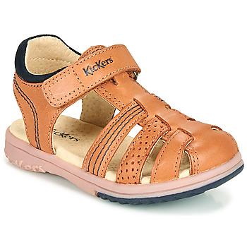 Schoenen Jongens Sandalen / Open schoenen Kickers PLATINIUM  camel