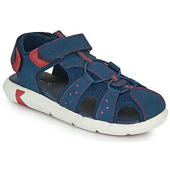 Schoenen Jongens Sandalen / Open schoenen Kickers JUMANGE Marine