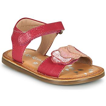 Schoenen Meisjes Sandalen / Open schoenen Kickers DYASTAR Roze