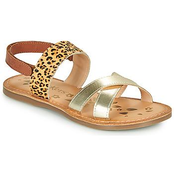 Schoenen Meisjes Sandalen / Open schoenen Kickers DYACROSS Goud