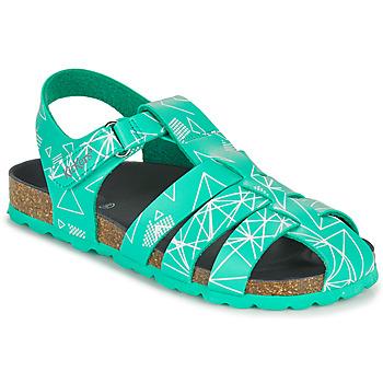 Schoenen Jongens Sandalen / Open schoenen Kickers SUMMERTAN Groen