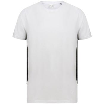 Textiel T-shirts korte mouwen Sf SF253 Wit/zwart