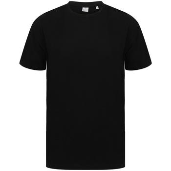 Textiel T-shirts korte mouwen Sf SF253 Zwart/Wit
