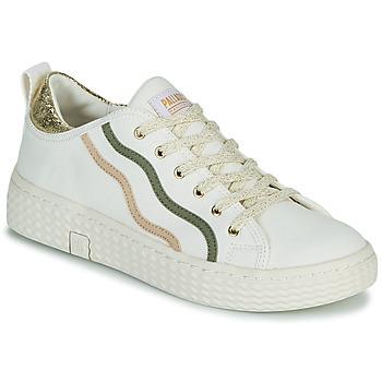 Schoenen Dames Lage sneakers Palladium Manufacture TEMPO 02 CVSG Wit