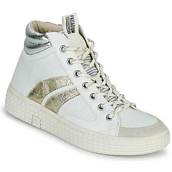 Schoenen Dames Hoge sneakers Palladium Manufacture TEMPO 03 TXT Wit