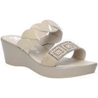 Schoenen Dames Leren slippers Susimoda 1440-01 Beige