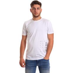 Textiel Heren T-shirts korte mouwen Antony Morato MMKS01223 FA100144 Wit