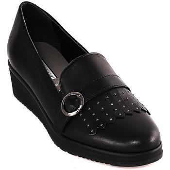 Schoenen Dames Mocassins Grunland SC3141 Zwart