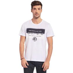 Textiel Heren T-shirts korte mouwen Gaudi 011BU64108 Wit