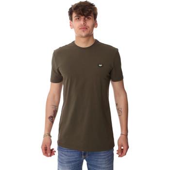 Textiel Heren T-shirts korte mouwen Antony Morato MMKS01737 FA120022 Groen