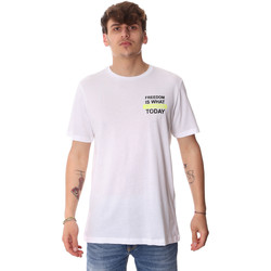 Textiel Heren T-shirts korte mouwen Antony Morato MMKS01786 FA100189 Wit