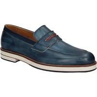 Schoenen Heren Mocassins Exton 605 Blauw